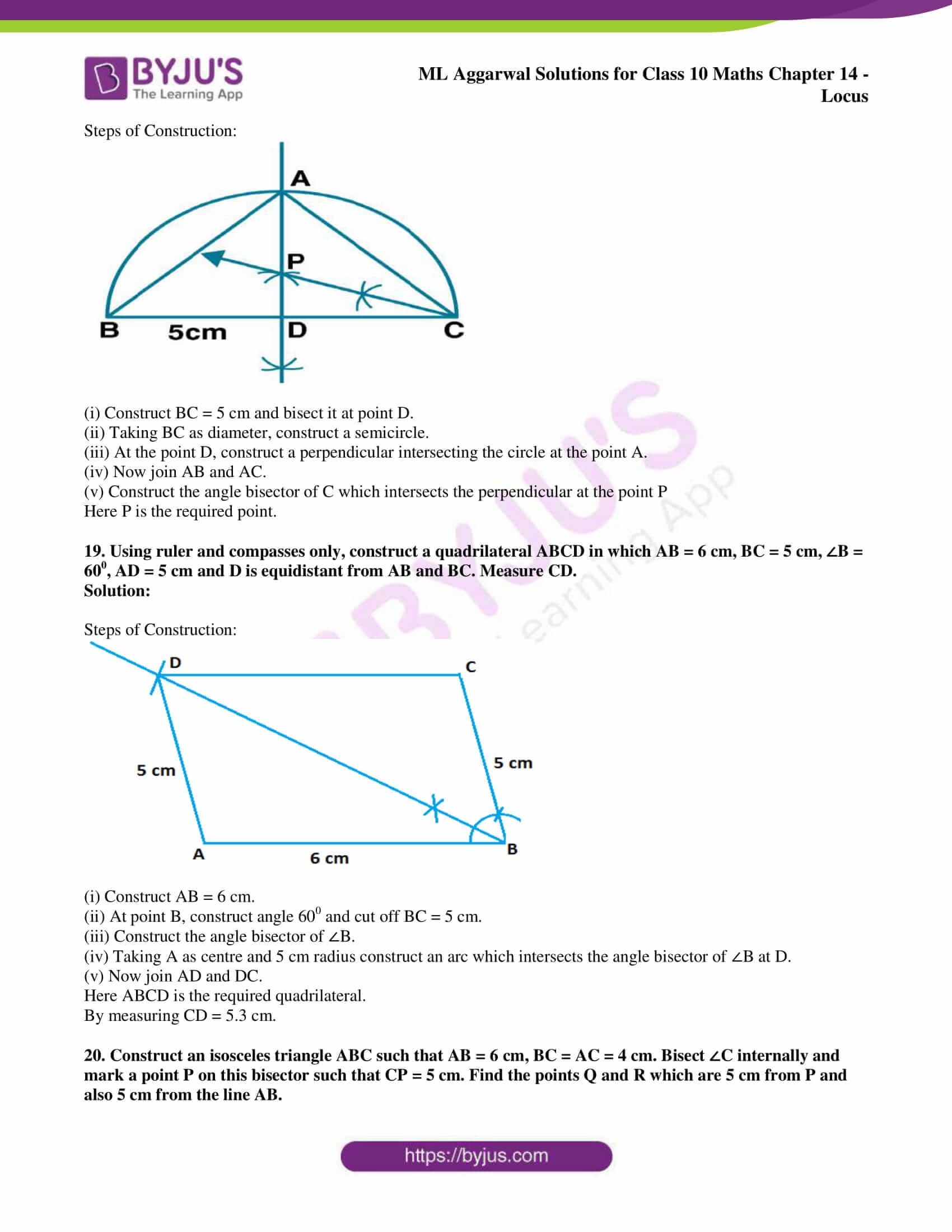 ml aggarwal solutions for class 10 maths chapter 14 16