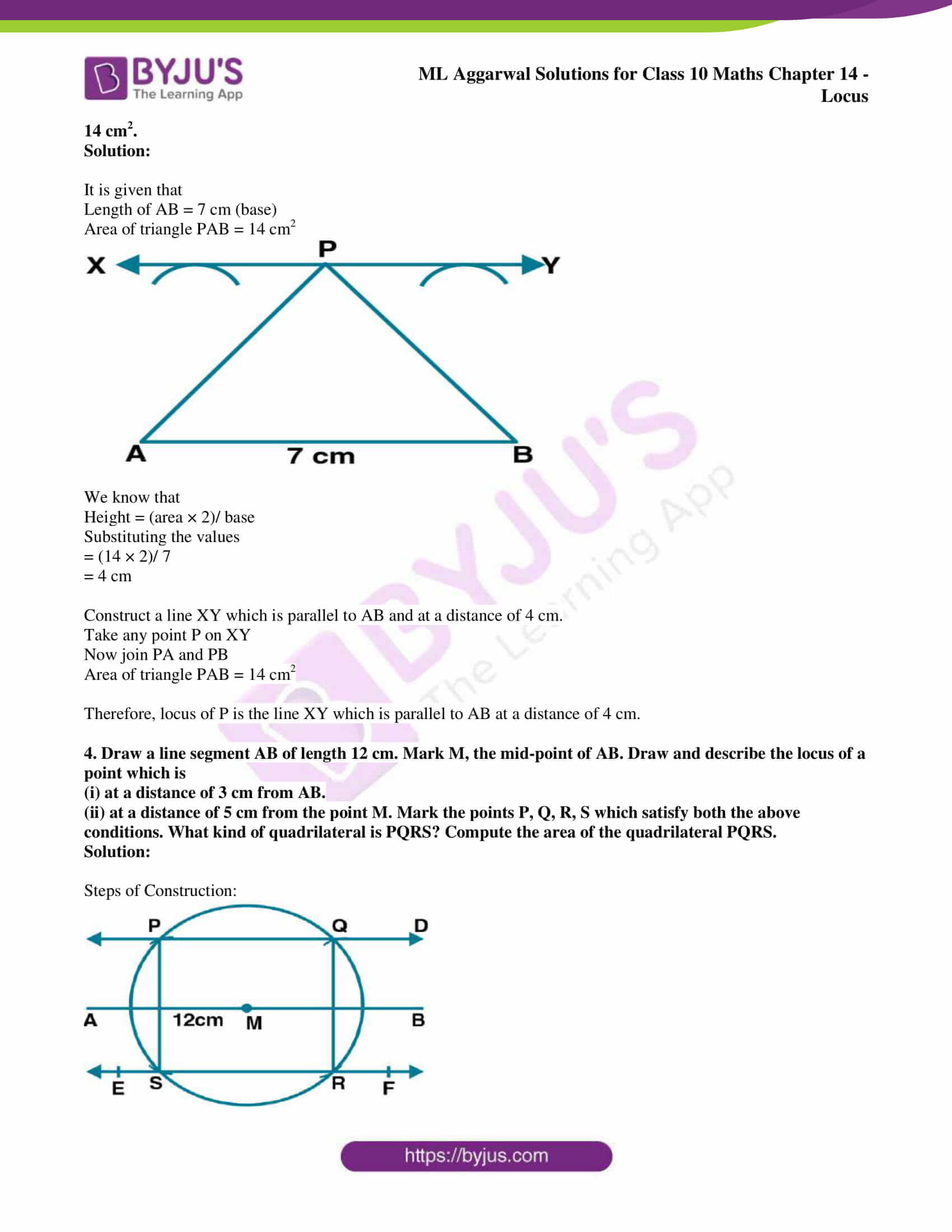 ml aggarwal solutions for class 10 maths chapter 14 20