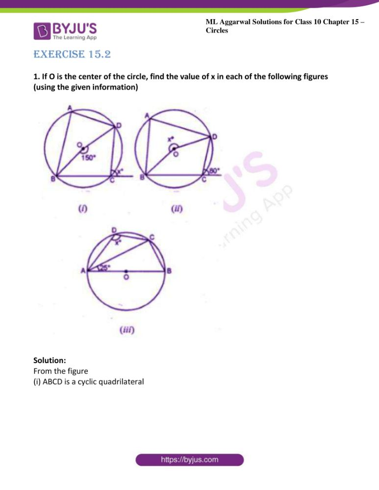 ml aggarwal solutions for class 10 maths chapter 15 circles 16