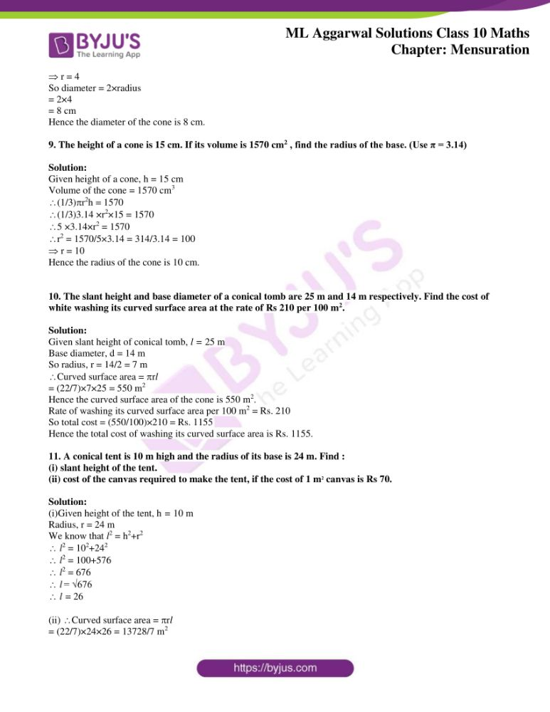 ml aggarwal solutions for class 10 maths chapter 17 mensuration 15