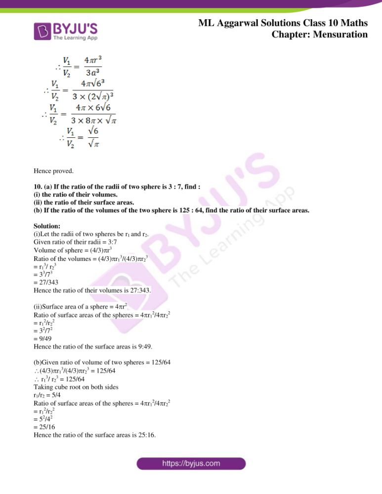 ml aggarwal solutions for class 10 maths chapter 17 mensuration 26
