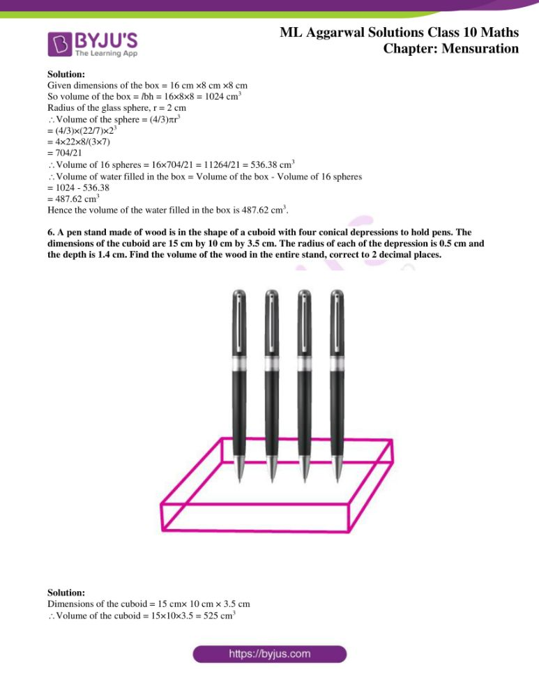 ml aggarwal solutions for class 10 maths chapter 17 mensuration 35