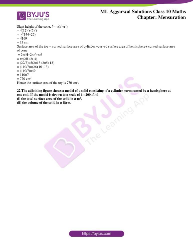 ml aggarwal solutions for class 10 maths chapter 17 mensuration 55