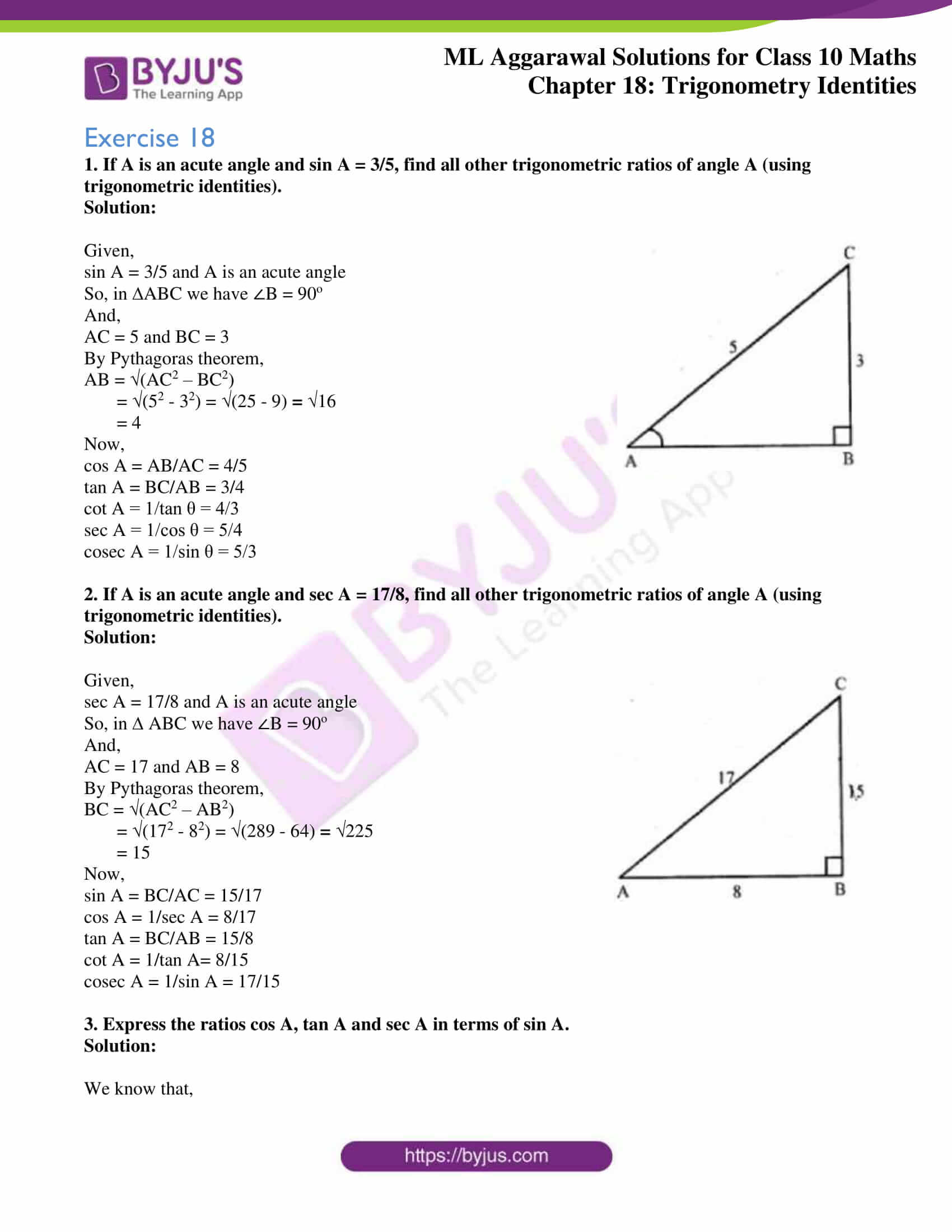 ml aggarwal solutions for class 10 maths chapter 18 01