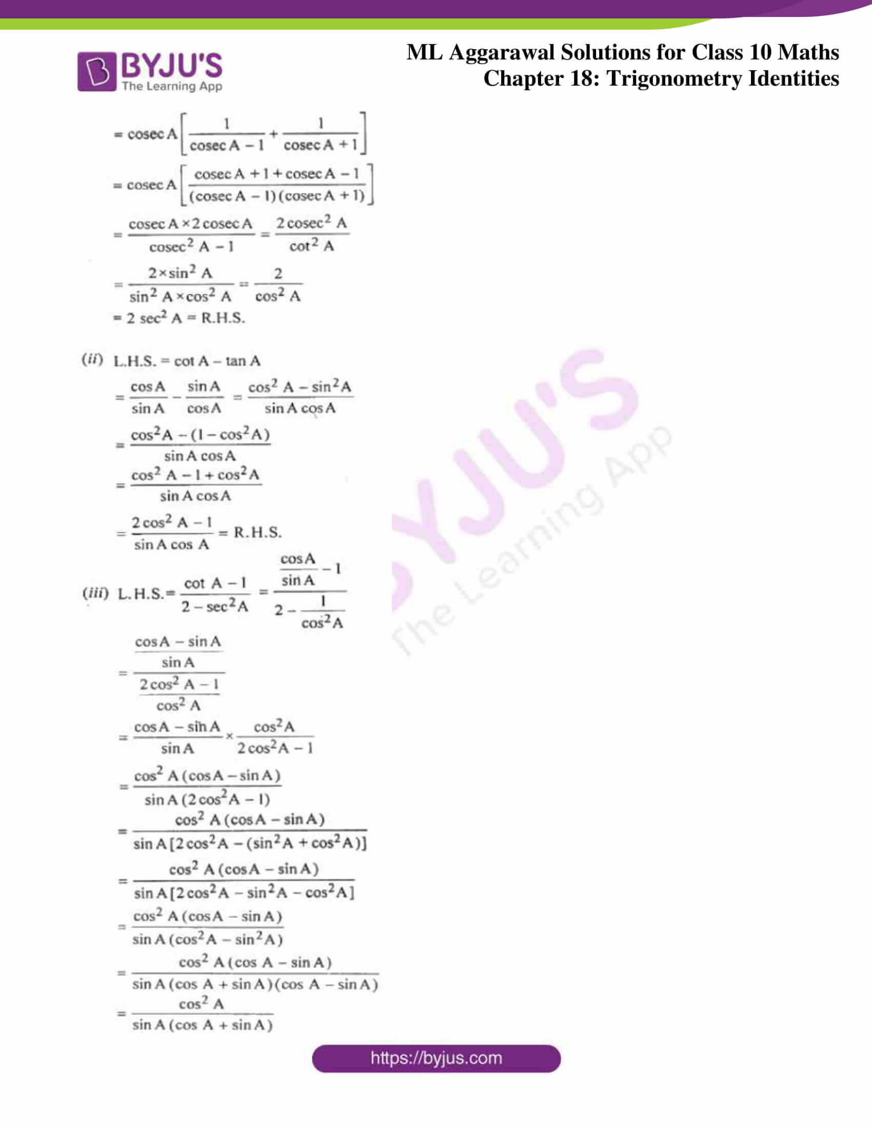 ml aggarwal solutions for class 10 maths chapter 18 12