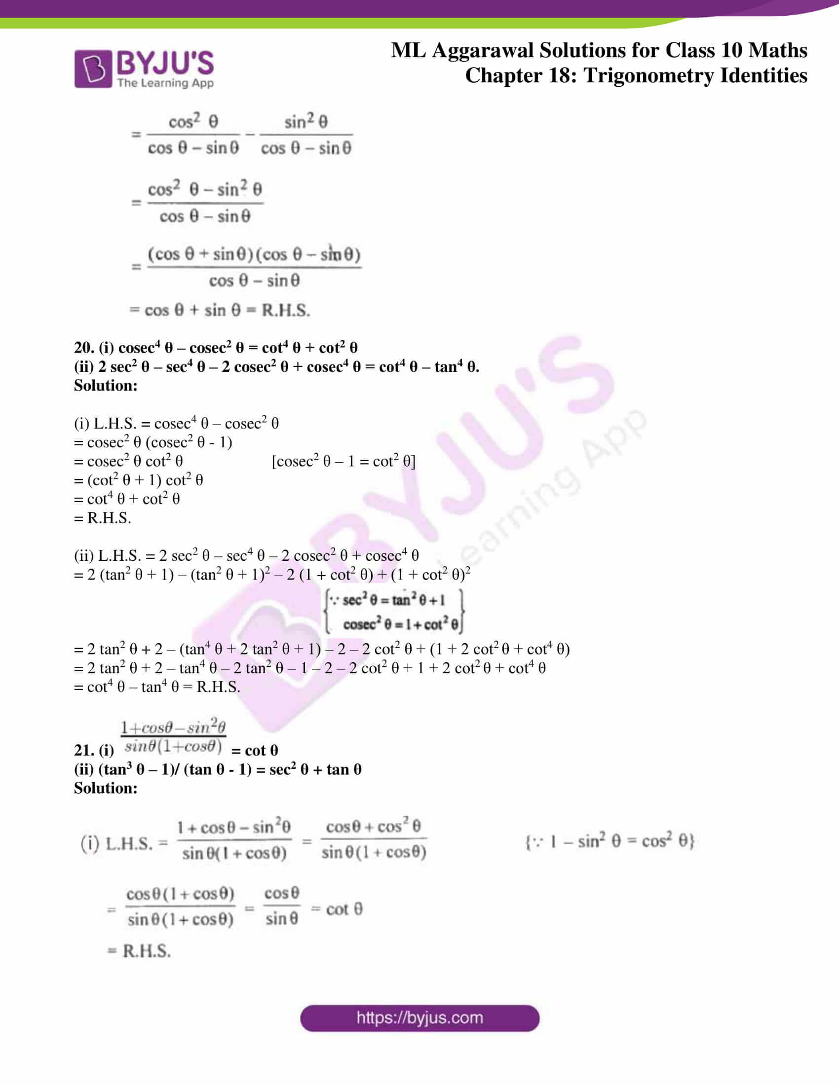 ml aggarwal solutions for class 10 maths chapter 18 14