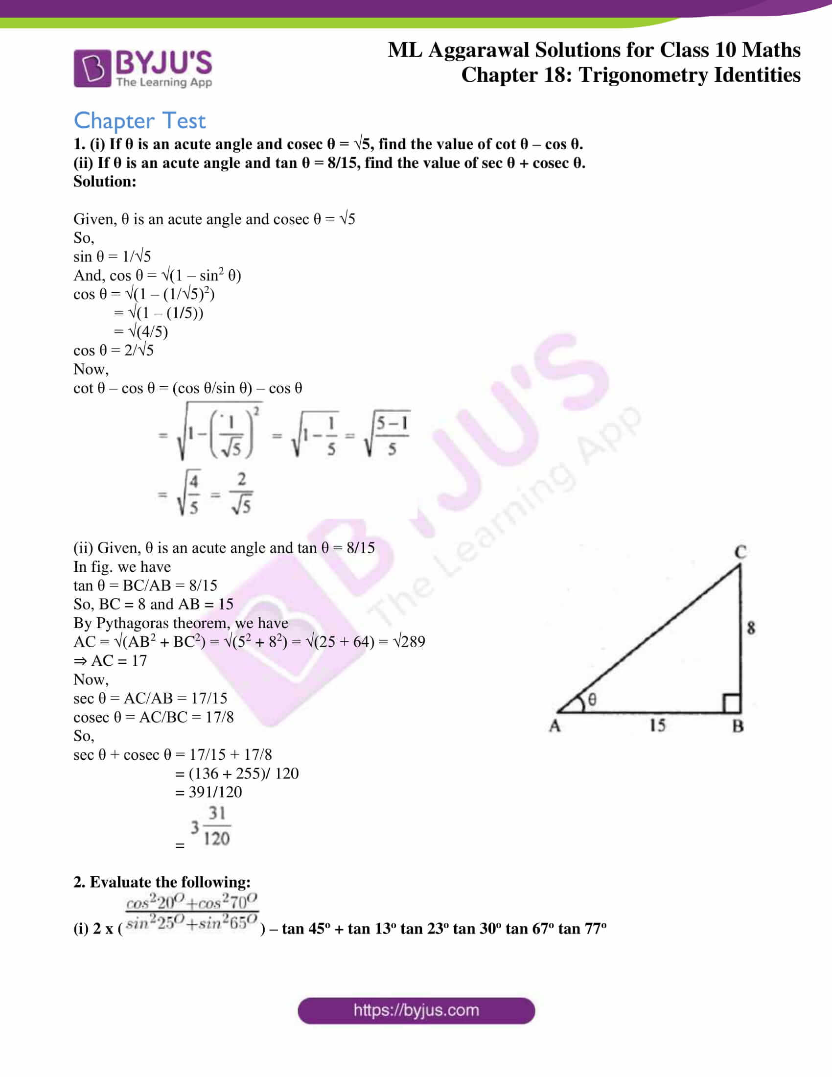 ml aggarwal solutions for class 10 maths chapter 18 27