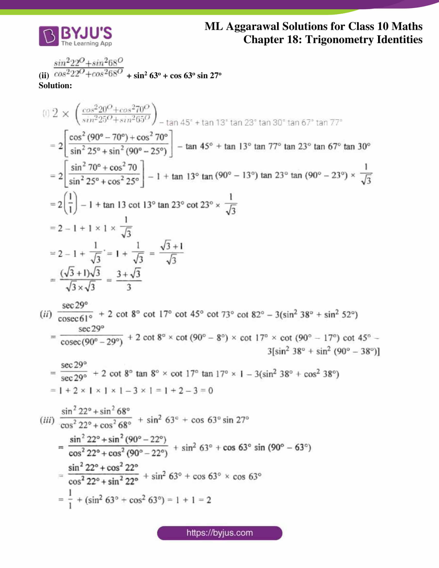 ml aggarwal solutions for class 10 maths chapter 18 28