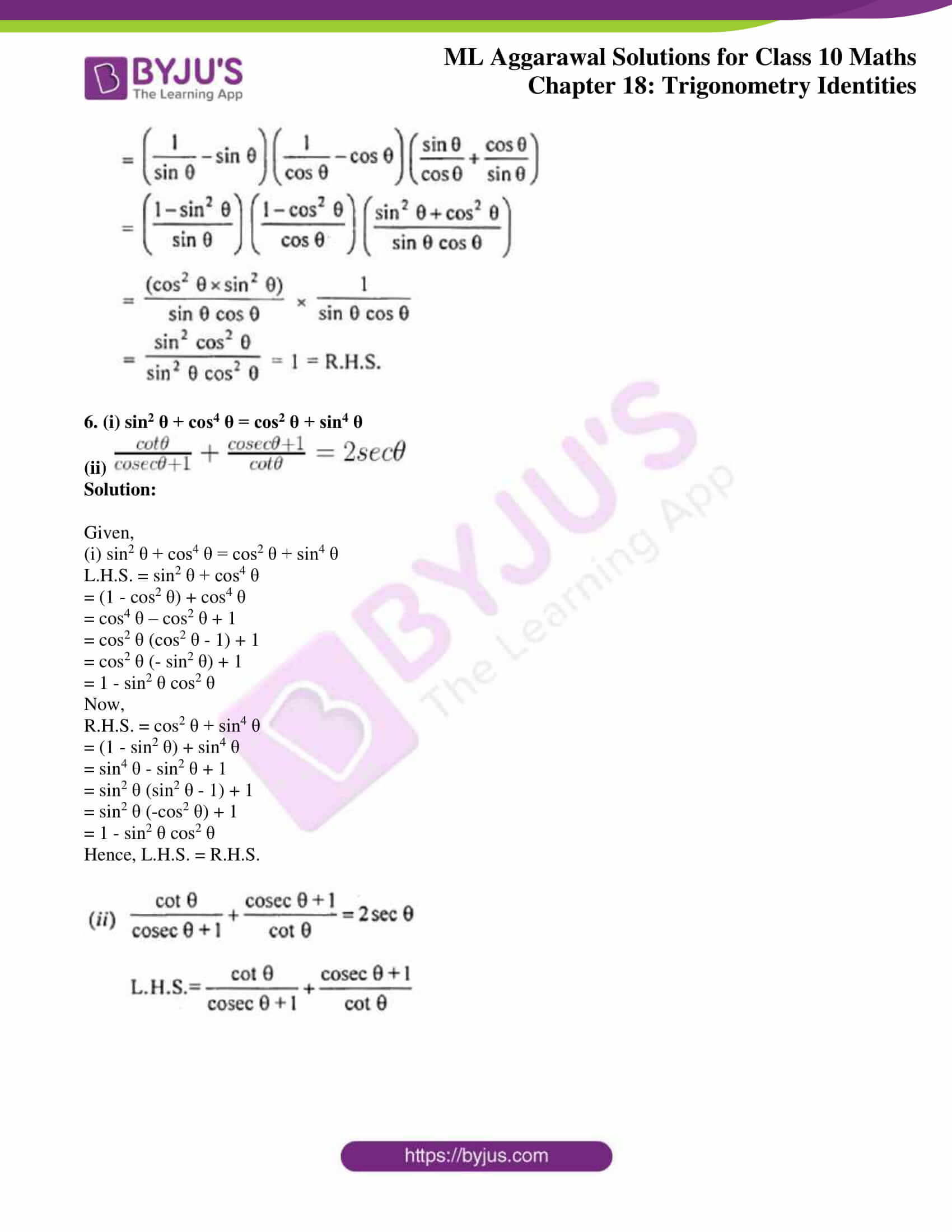 ml aggarwal solutions for class 10 maths chapter 18 31