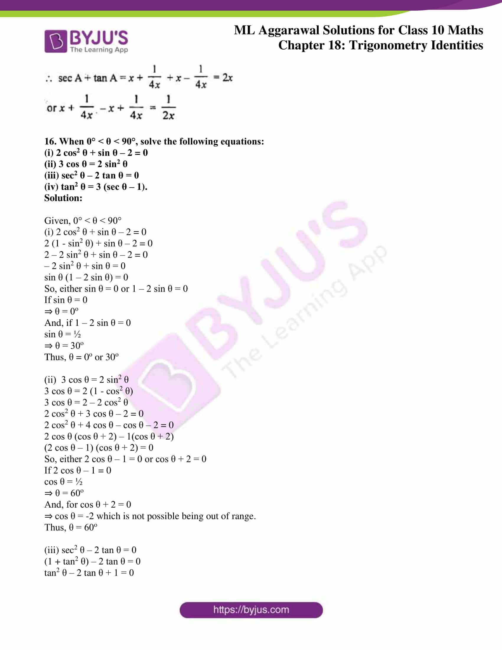 ml aggarwal solutions for class 10 maths chapter 18 40