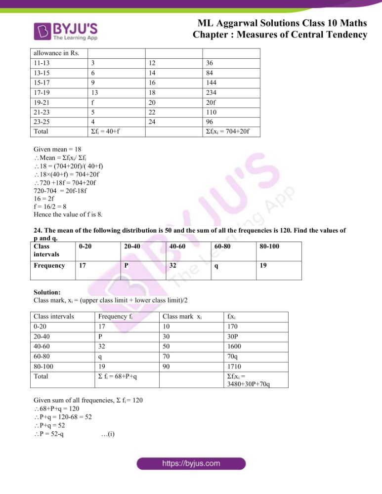 ml aggarwal solutions for class 10 maths chapter 21 measures 14