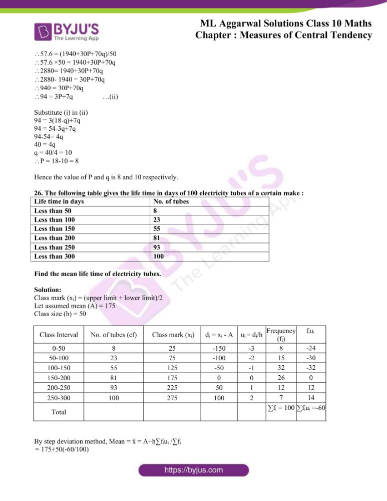 ml aggarwal solutions for class 10 maths chapter 21 measures 16