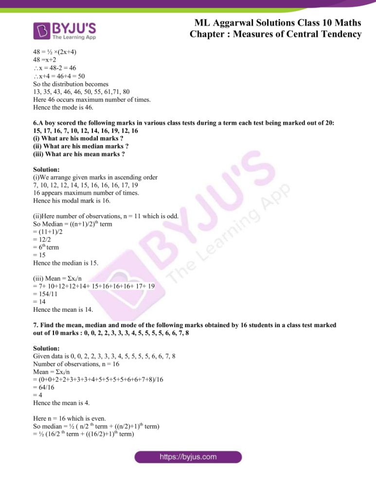ml aggarwal solutions for class 10 maths chapter 21 measures 30