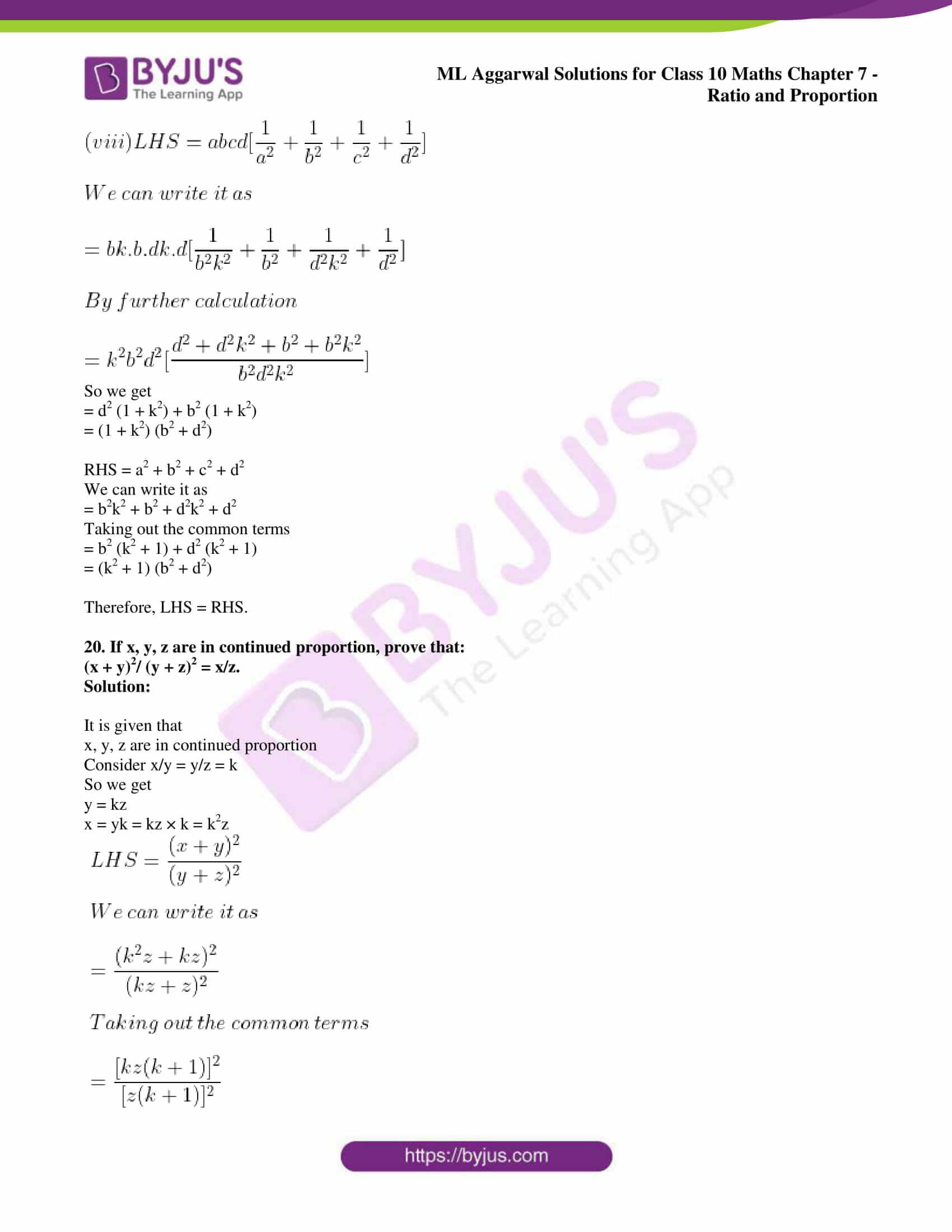 ml aggarwal solutions for class 10 maths chapter 7 34