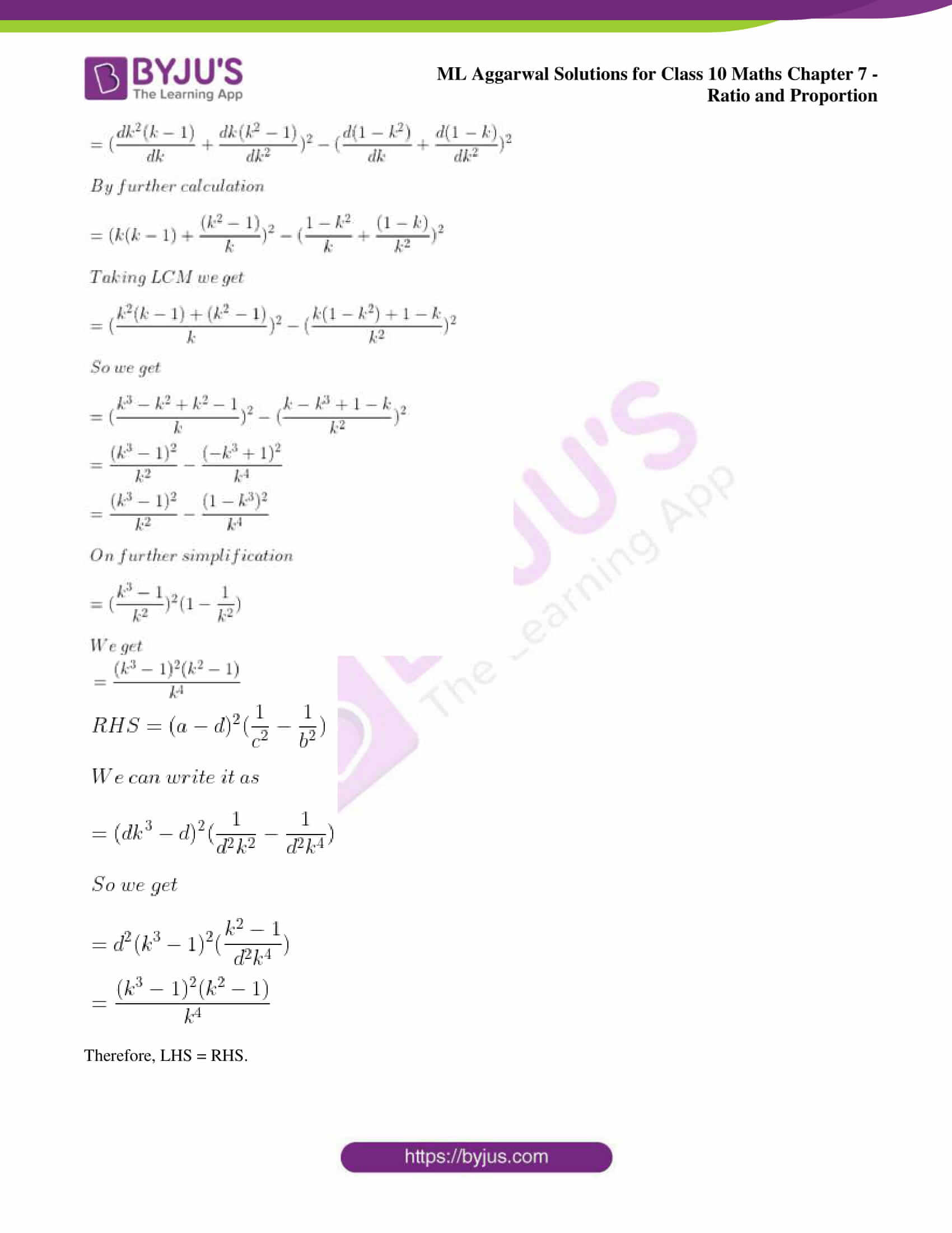 ml aggarwal solutions for class 10 maths chapter 7 44
