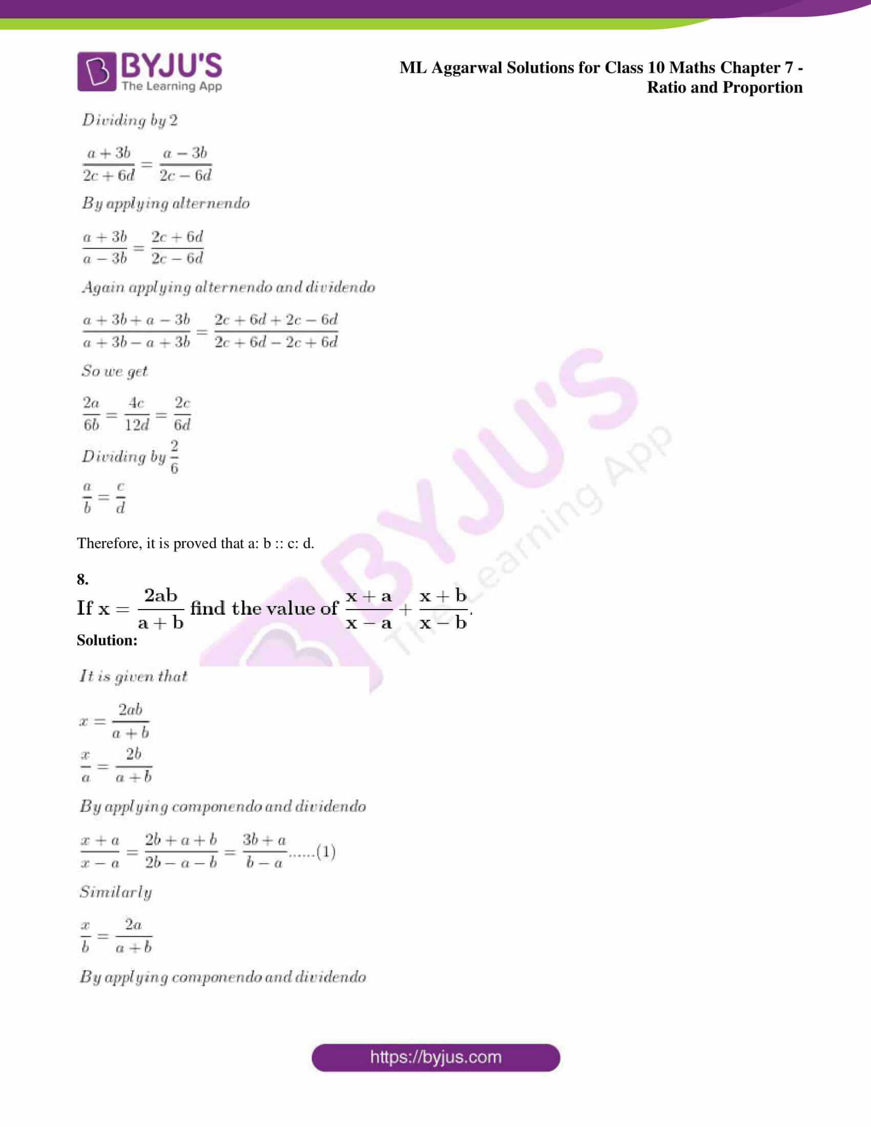 ml aggarwal solutions for class 10 maths chapter 7 50