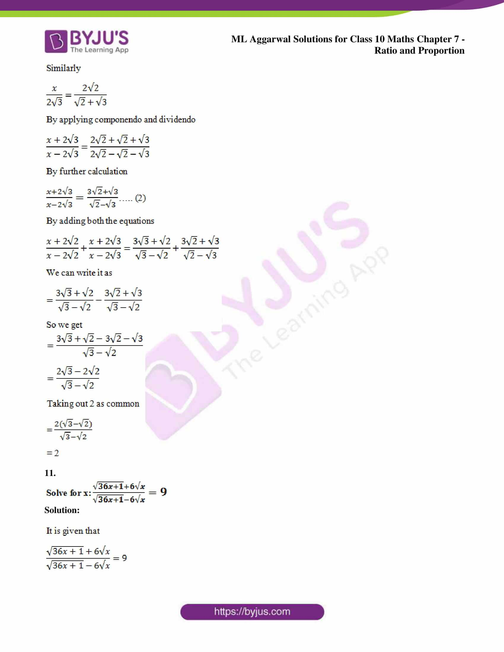 ml aggarwal solutions for class 10 maths chapter 7 53