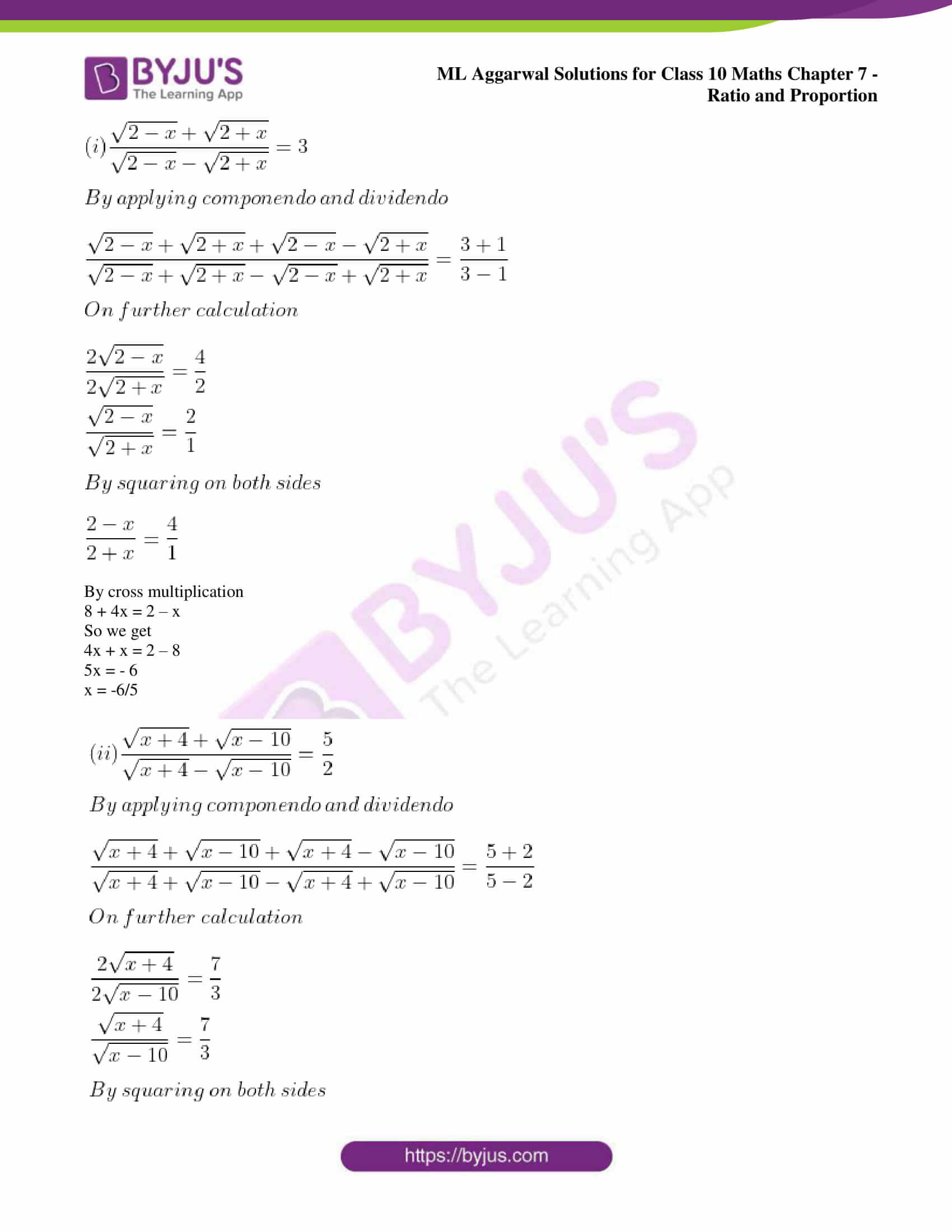 ml aggarwal solutions for class 10 maths chapter 7 55