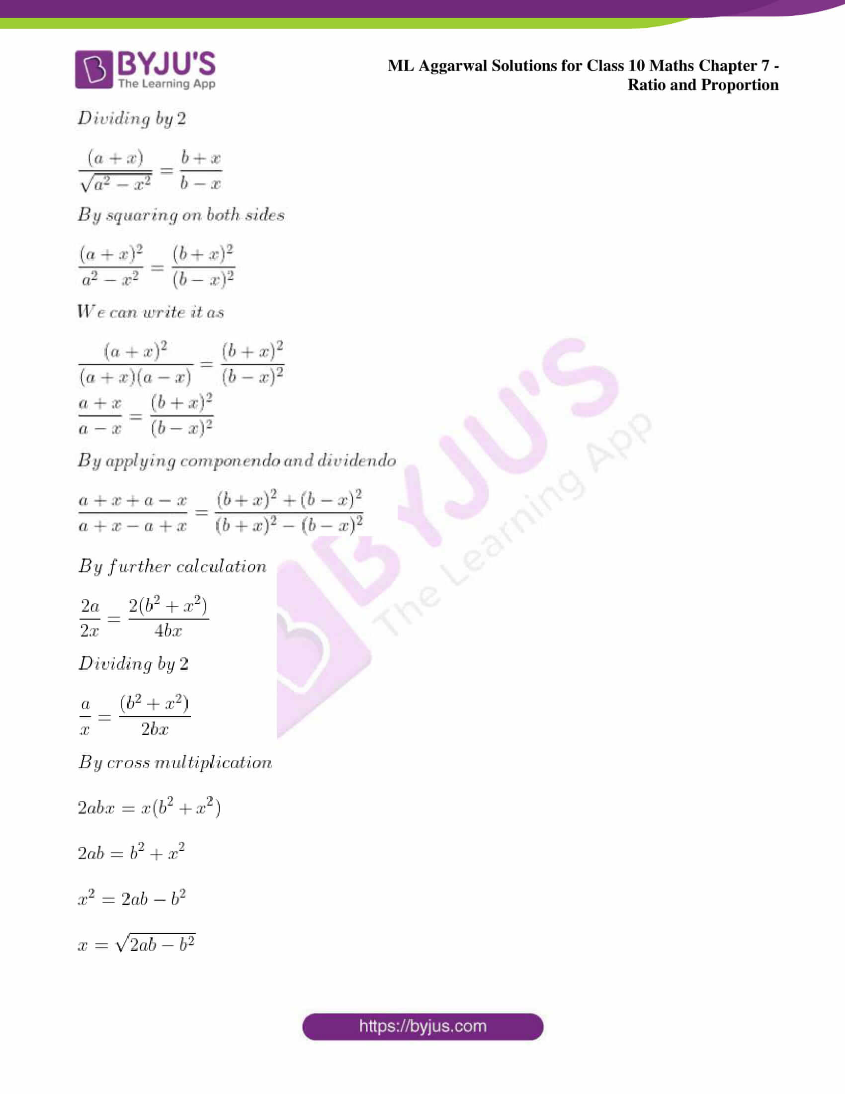 ml aggarwal solutions for class 10 maths chapter 7 85