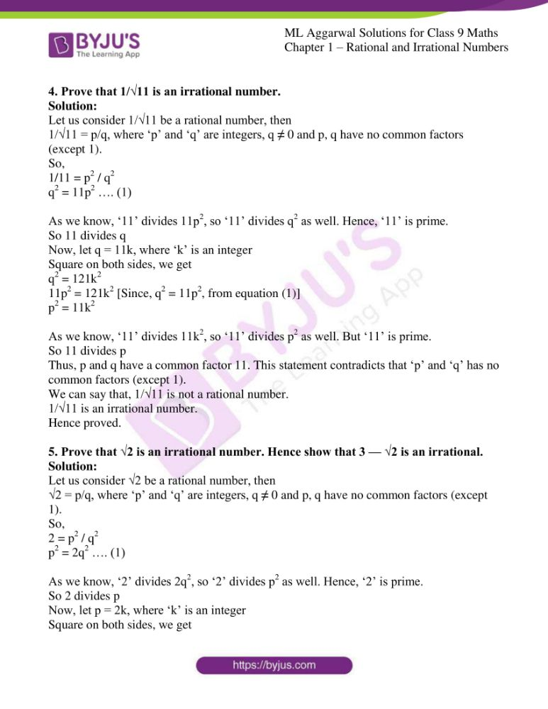 ml aggarwal solutions for class 9 maths chapter 1 10