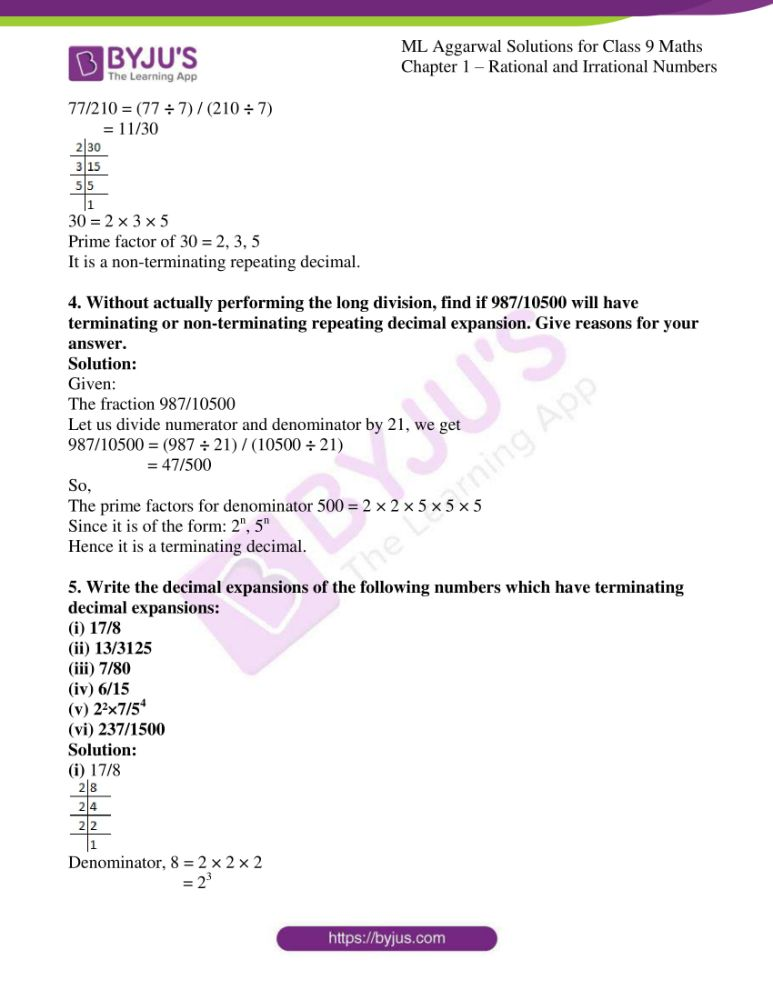 ml aggarwal solutions for class 9 maths chapter 1 22