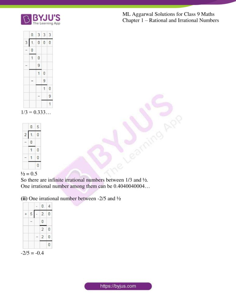 ml aggarwal solutions for class 9 maths chapter 1 33