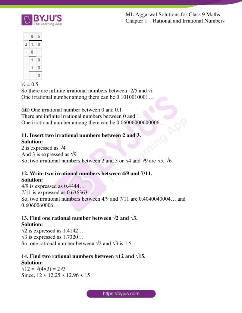 ml aggarwal solutions for class 9 maths chapter 1 34