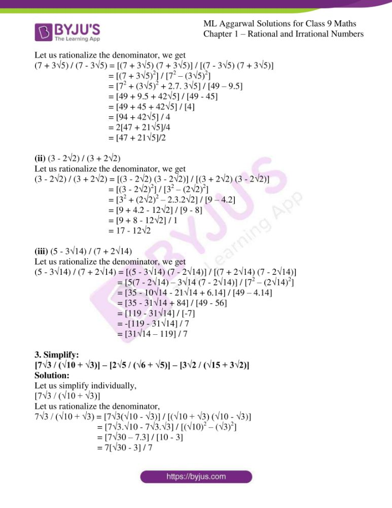 ml aggarwal solutions for class 9 maths chapter 1 50