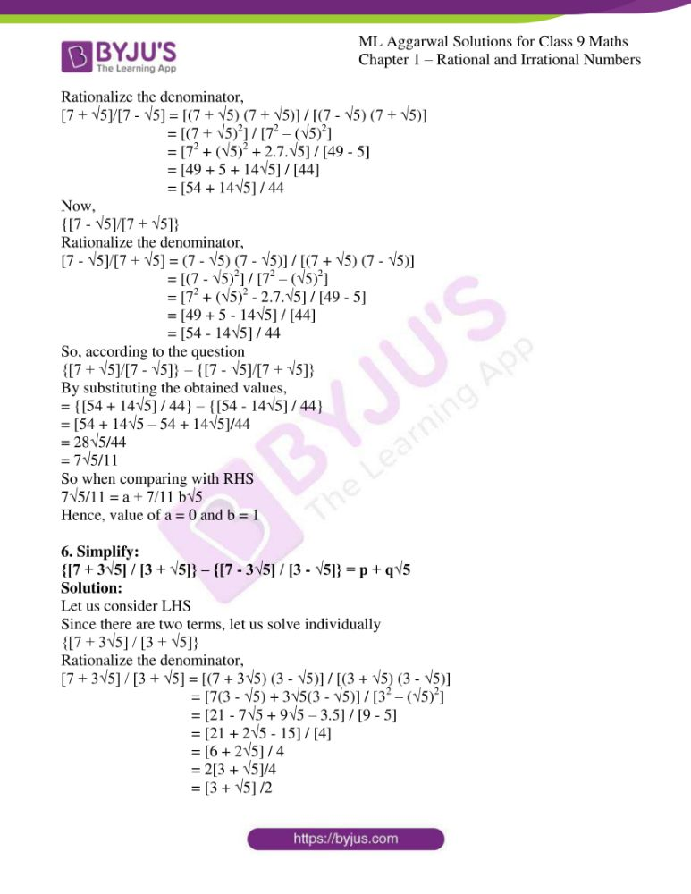 ml aggarwal solutions for class 9 maths chapter 1 54