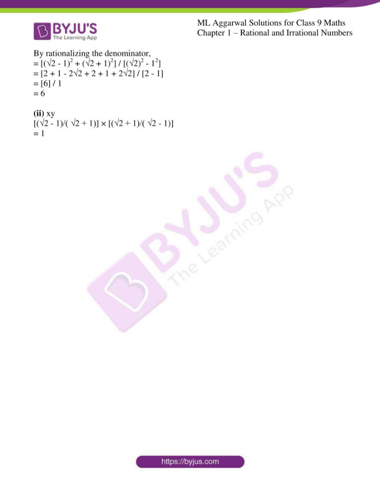 ml aggarwal solutions for class 9 maths chapter 1 59