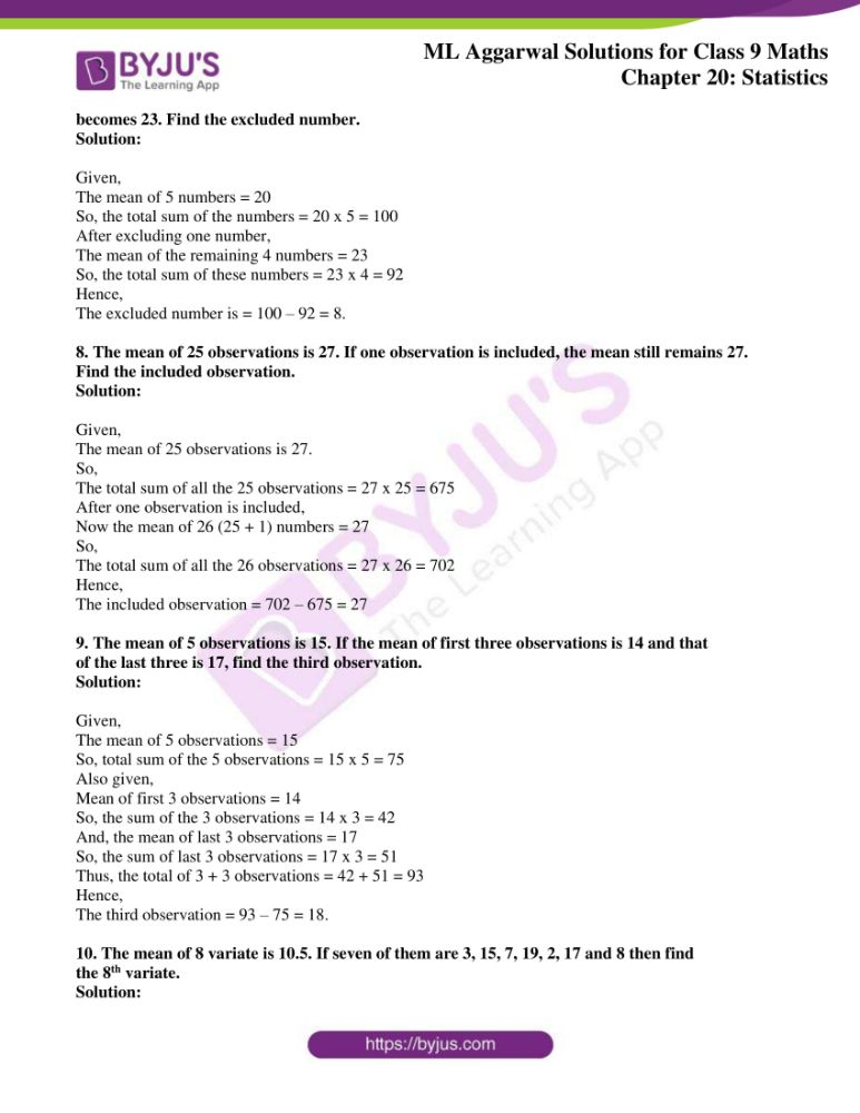 ml aggarwal solutions for class 9 maths chapter 20 03