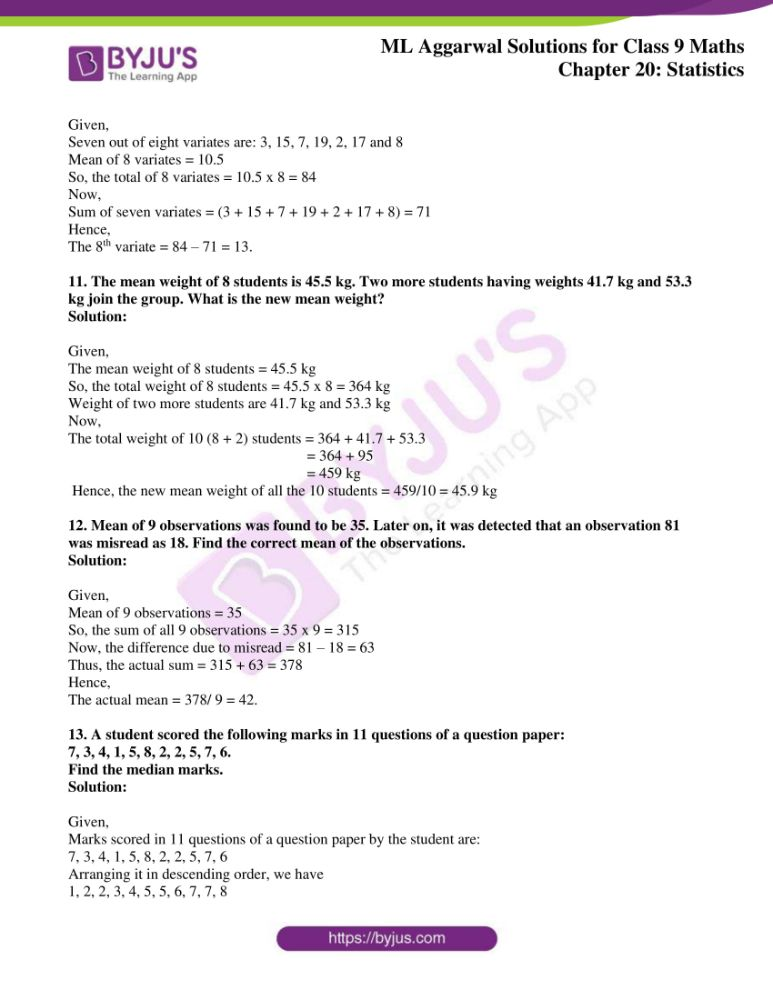 ml aggarwal solutions for class 9 maths chapter 20 04