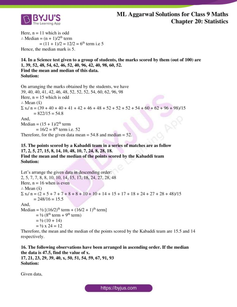 ml aggarwal solutions for class 9 maths chapter 20 05