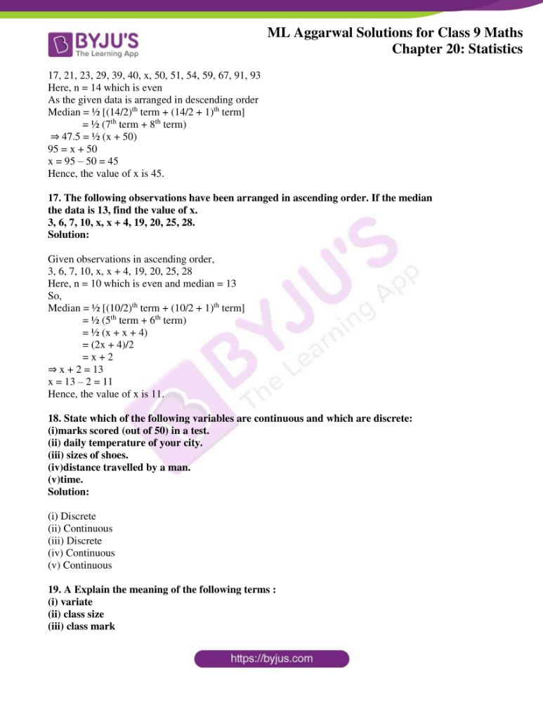 ml aggarwal solutions for class 9 maths chapter 20 06