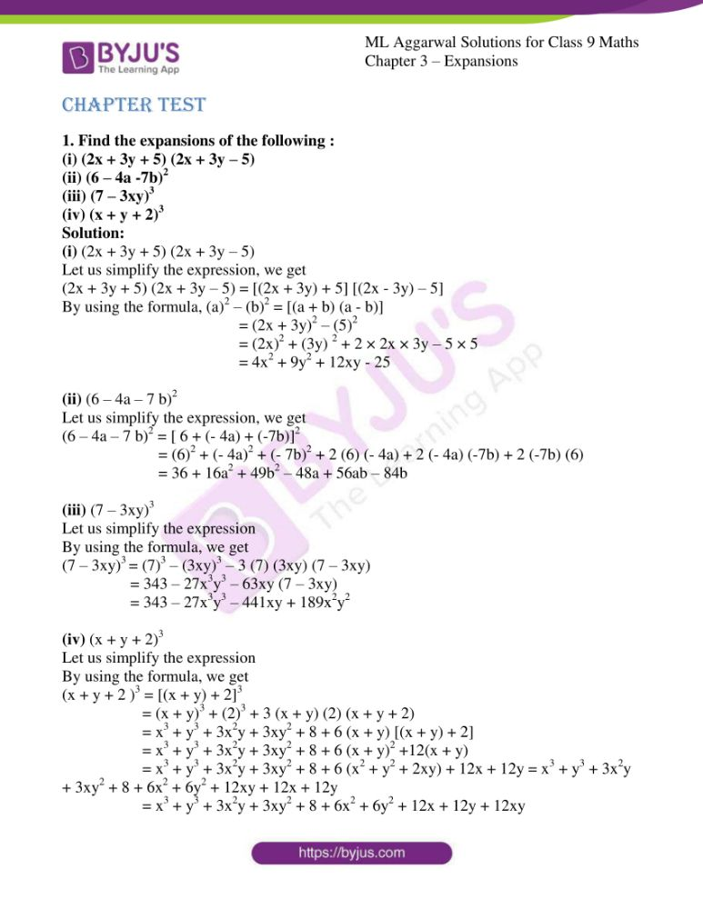 ml aggarwal solutions for class 9 maths chapter 3 1