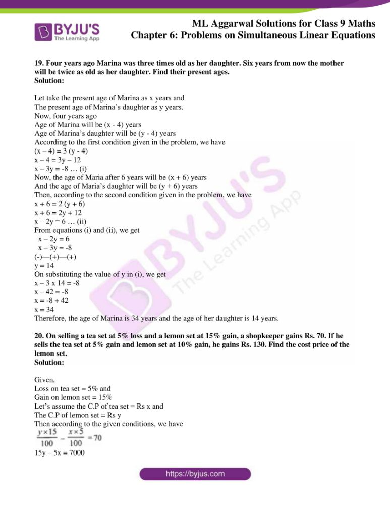 ml aggarwal solutions for class 9 maths chapter 6 11