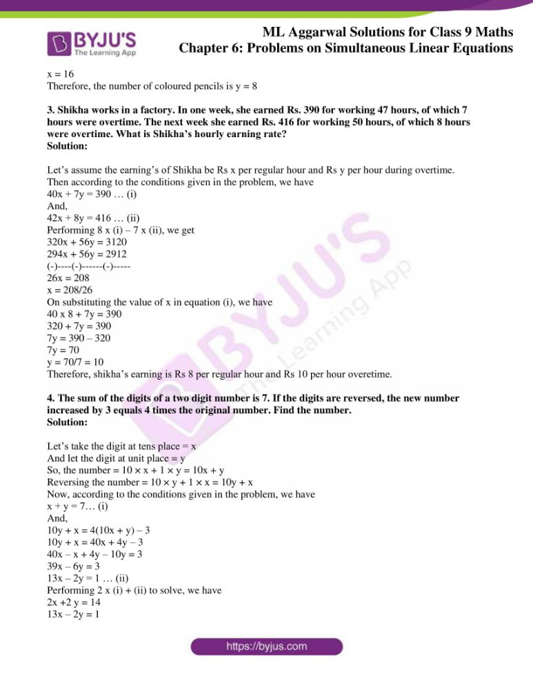 ml aggarwal solutions for class 9 maths chapter 6 22