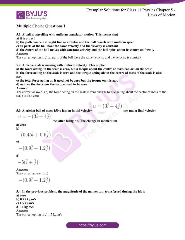 ncert exemplar class 11 phy chapter 5 01