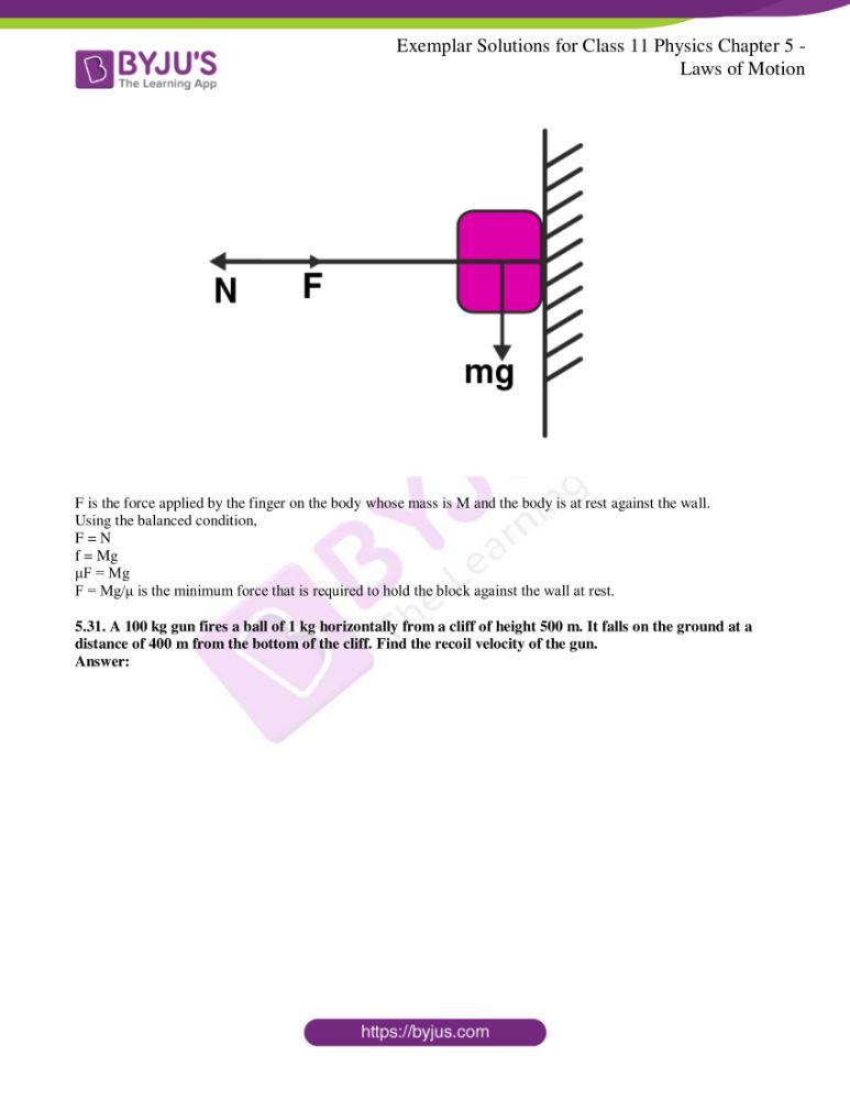 ncert exemplar class 11 phy chapter 5 14