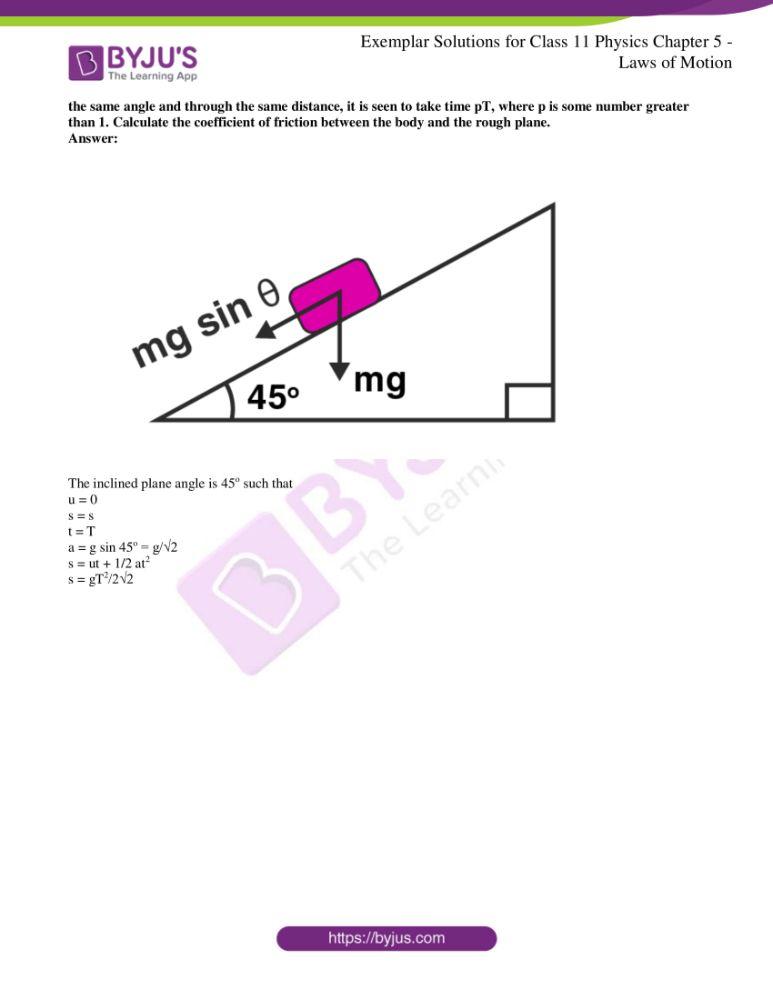ncert exemplar class 11 phy chapter 5