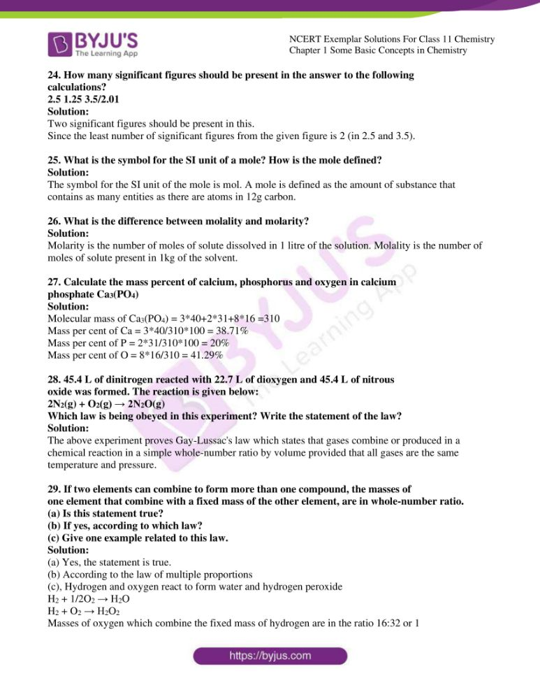 ncert exemplar solutions for class 11 chemistry ch 1 some 06