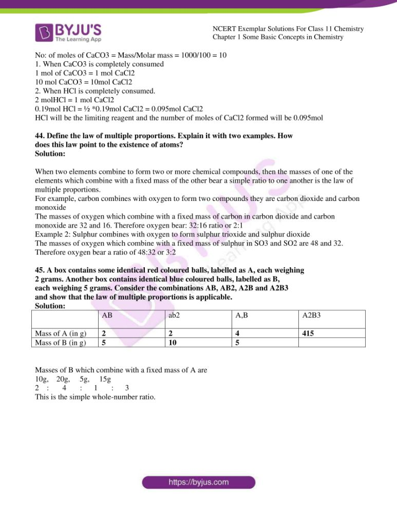 ncert exemplar solutions for class 11 chemistry ch 1 some 11