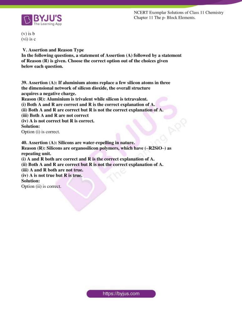ncert exemplar solutions for class 11 chemistry ch 11 p block 11