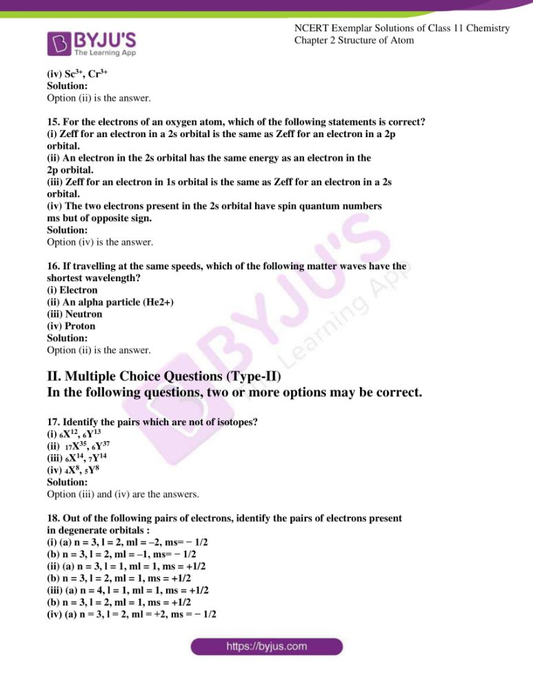 ncert exemplar solutions for class 11 chemistry ch 2 structure 04