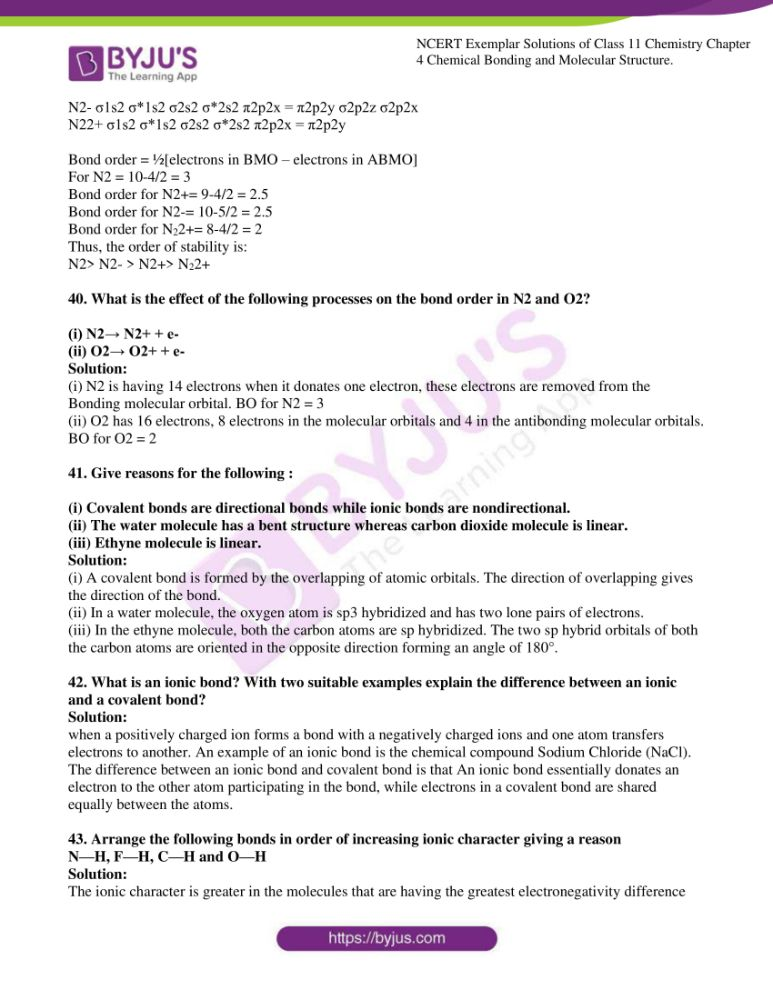 ncert exemplar solutions for class 11 chemistry ch 4 chemical 10