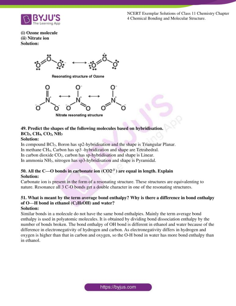 ncert exemplar solutions for class 11 chemistry ch 4 chemical 12