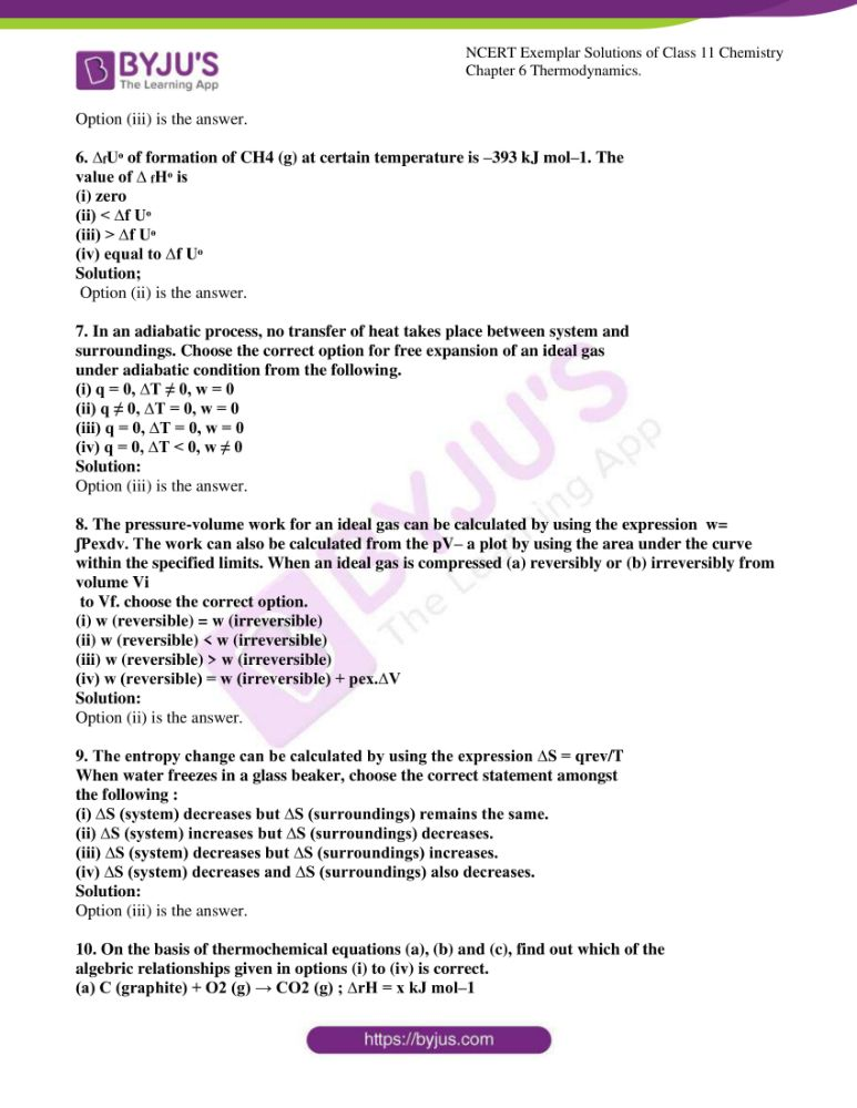 ncert exemplar solutions for class 11 chemistry ch 6 thermodynamics 02