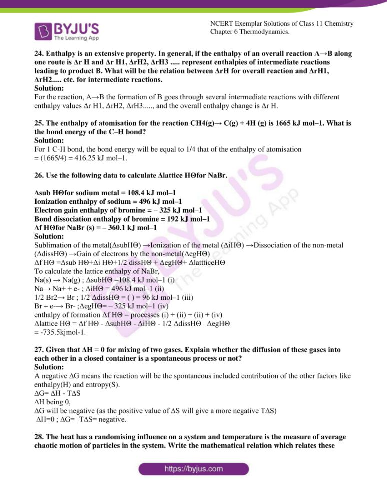 ncert exemplar solutions for class 11 chemistry ch 6 thermodynamics 06