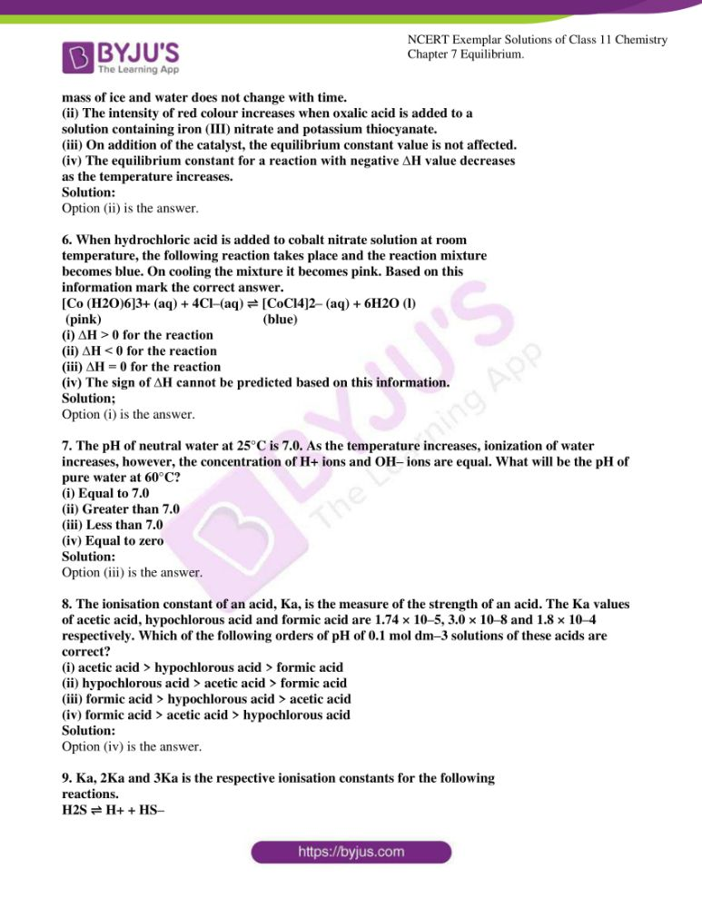 ncert exemplar solutions for class 11 chemistry ch 7 equilibrium 02