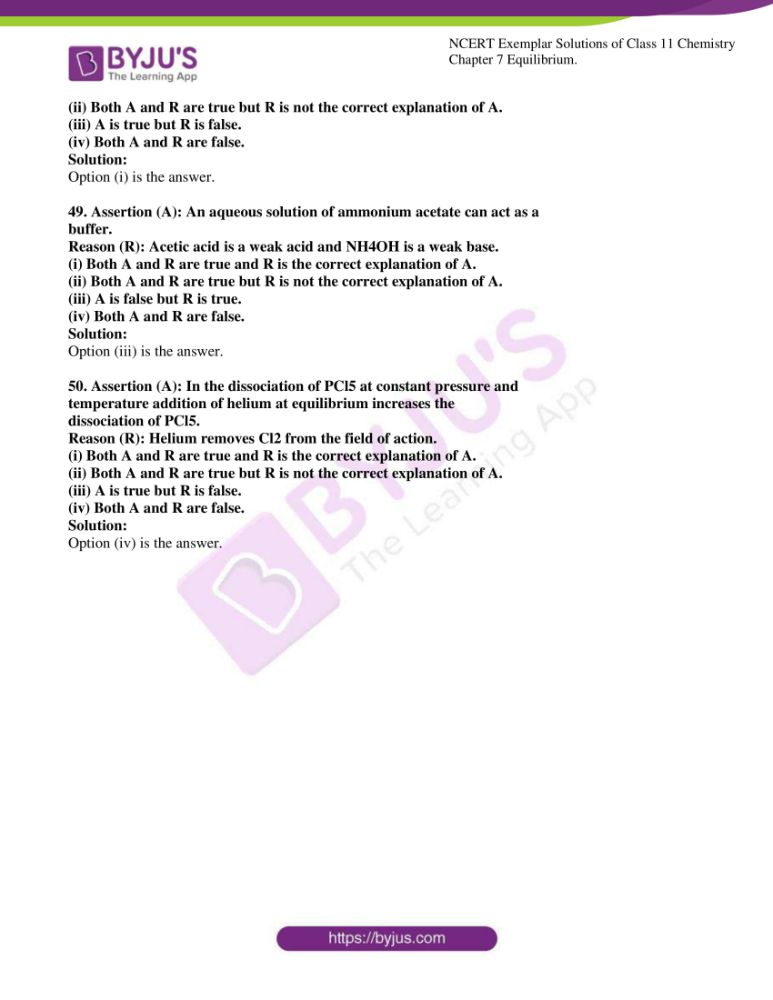 ncert exemplar solutions for class 11 chemistry ch 7 equilibrium 14